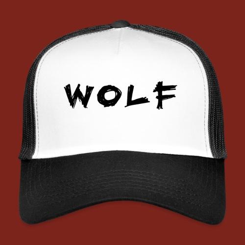 Wolf Font png - Trucker Cap