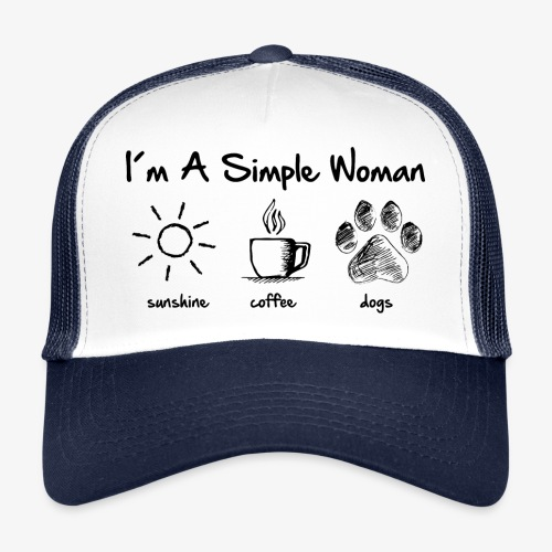 simple woman dog - Trucker Cap