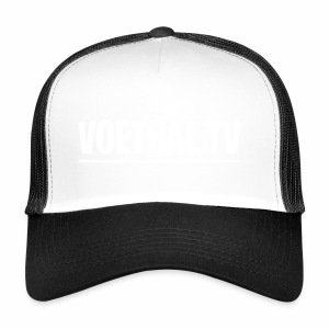 voetbal tv shirt tekst wit 2 - Trucker Cap