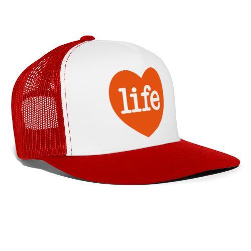LOVE LIFE heart - Trucker Cap