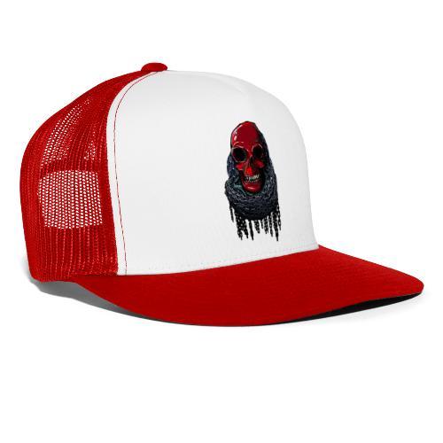 RED Skull in Chains - Trucker Cap