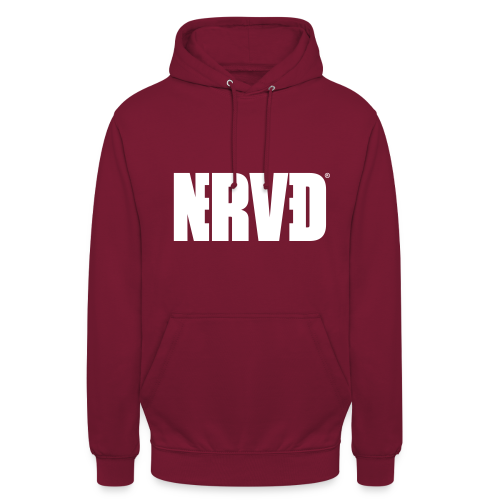 Official Nerved@ White Logotype - Unisex Hoodie