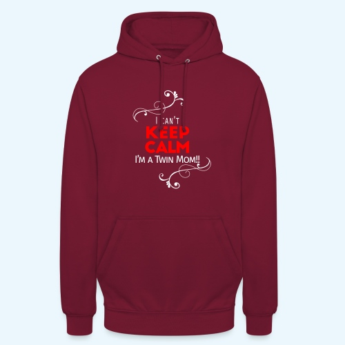 I Can't Keep Calm (voor donkere stof) - Hoodie unisex