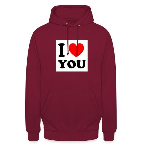 Sweater met i love you - Hoodie unisex