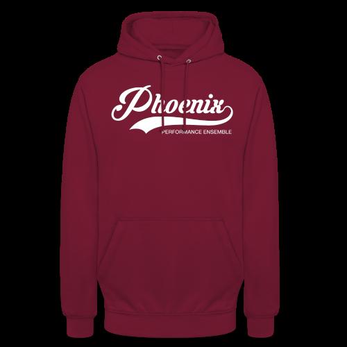Phoenix Retro White - Unisex Hoodie