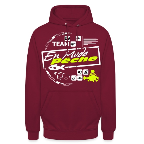 ENMODEPECHE - Sweat-shirt à capuche unisexe