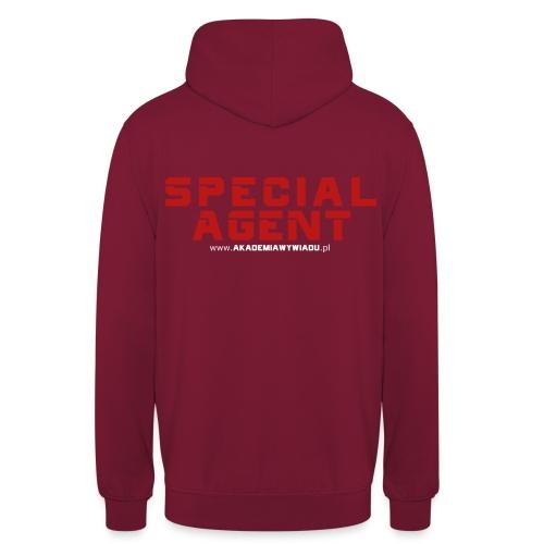Emblemat Special Agent marki Akademia Wywiadu™ - Bluza z kapturem typu unisex