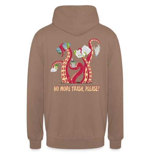 Octopus : No More trash,please! - Sweat-shirt à capuche unisexe