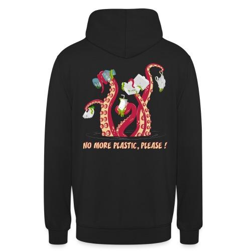 No more plastic ! - Sweat-shirt à capuche unisexe