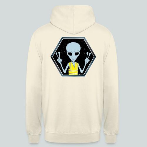 Extraterrestre Gilet jaune - Sweat-shirt à capuche unisexe