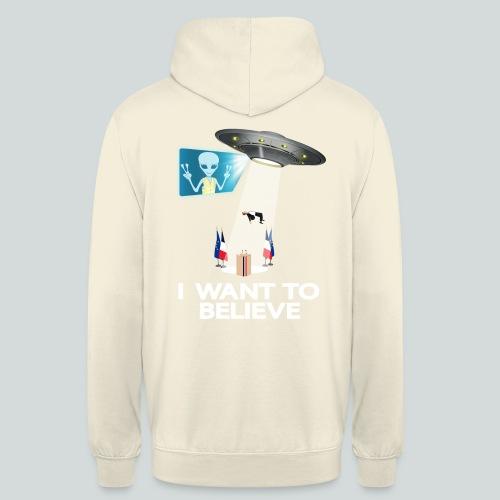 I WANT TO BELIEVE II - MACRON - Sweat-shirt à capuche unisexe