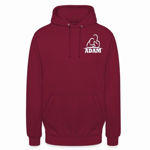 Logo Adam blanc - Sweat-shirt à capuche unisexe