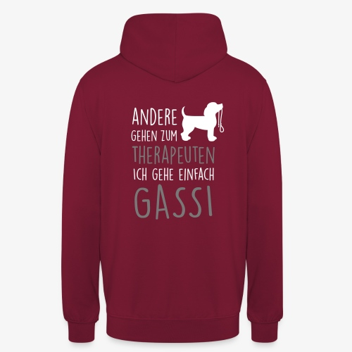 Gassi Therapeut Hund - Unisex Hoodie