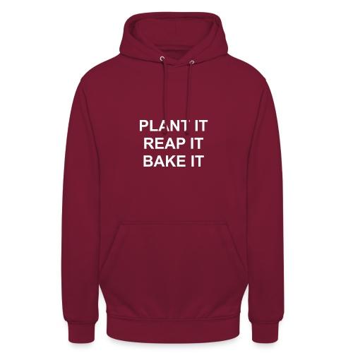 plantitreapitbakeit_white - Unisex Hoodie