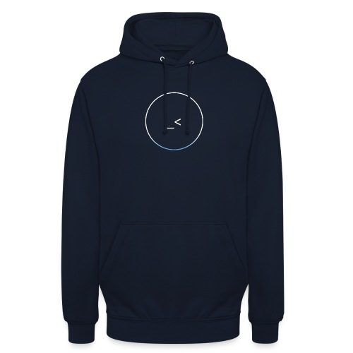 White and white-blue logo - Unisex Hoodie