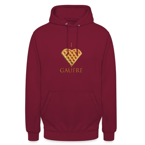 i love gaufre - Sweat-shirt à capuche unisexe