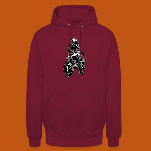 Cafe Racer Motorrad 02_schwarz weiß - Unisex Hoodie