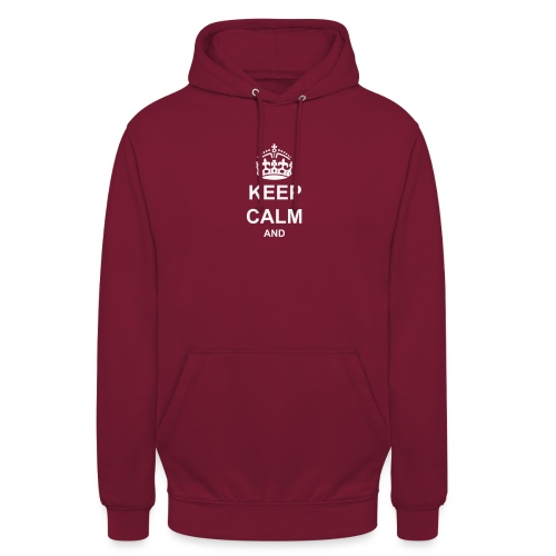 Keep Calm And Your Text Best Price - Unisex Hoodie