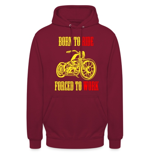 BORN TO RIDE - Sweat-shirt à capuche unisexe
