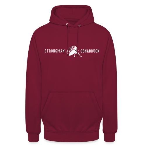 Strongman Logo weiß - Unisex Hoodie
