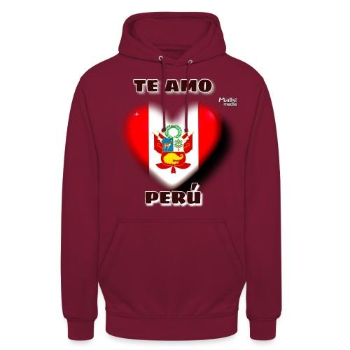 Te Amo Peru Corazon - Sweat-shirt à capuche unisexe