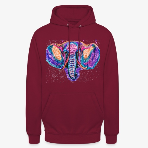 Elefante - Sudadera con capucha unisex
