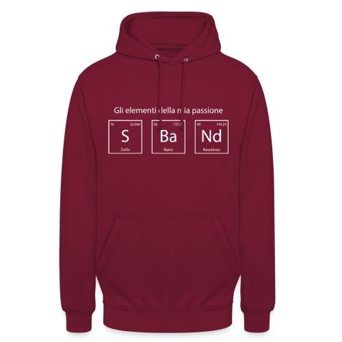 elementi chimici sband2 - Felpa con cappuccio unisex