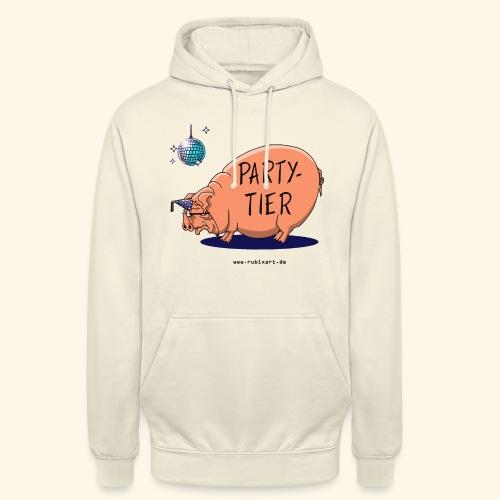 Partytier Schwein Fete Feier Party Sau - Unisex Hoodie