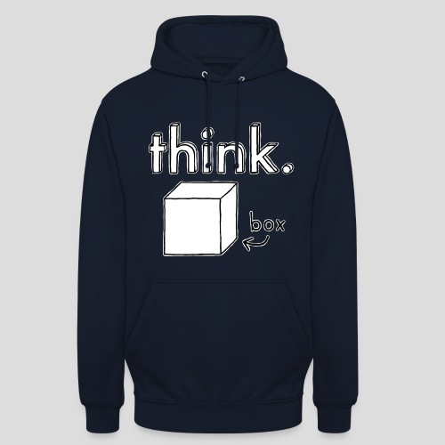Think Outside The Box Illustration - Unisex Hoodie