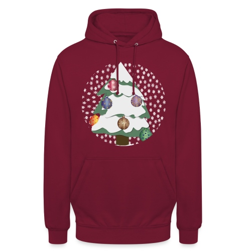 Christmas tree in snowstorm - Unisex Hoodie