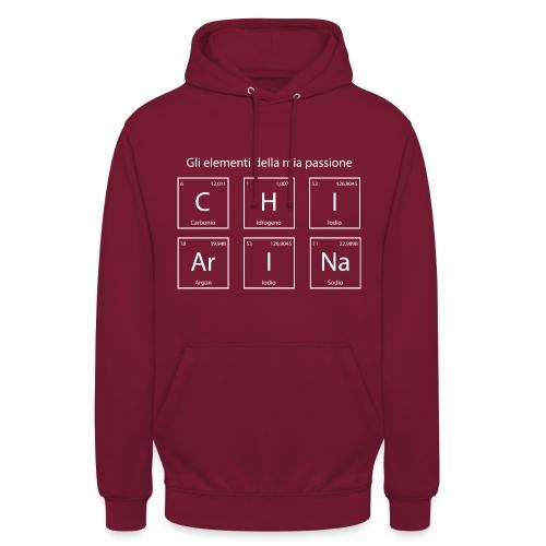 elementi chimici chiarina2 - Felpa con cappuccio unisex
