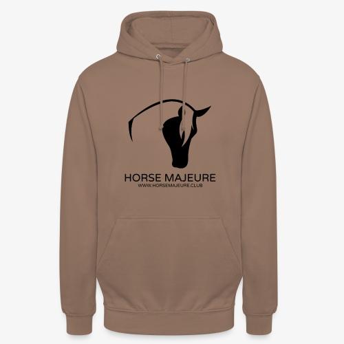 "Horse Majeure Logo / Musta - Huppari ""unisex"""