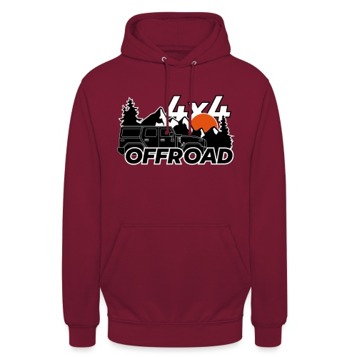 Offroad 4x4 Jeep Logo - Unisex Hoodie