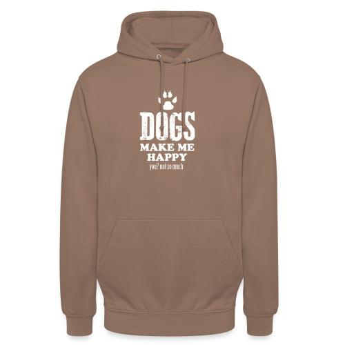 Hunde machen mich glücklich - Unisex Hoodie