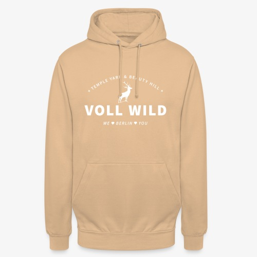 Voll wild // Temple Yard & Beauty Hill - Unisex Hoodie