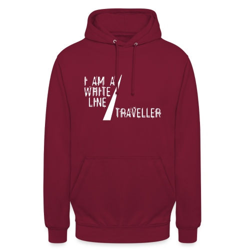 i am a white line traveller - Hoodie unisex