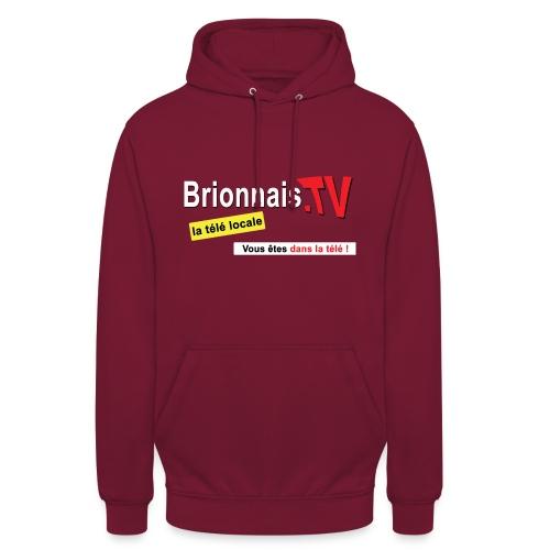 BTV logo shirt dos - Sweat-shirt à capuche unisexe
