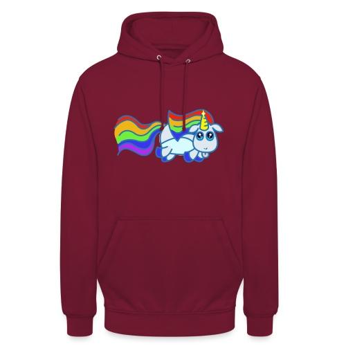 Nyan unicorn - Felpa con cappuccio unisex