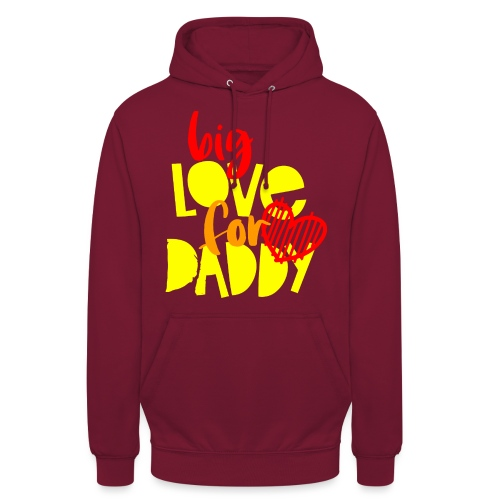BIG LOVE FOR DADY - Sweat-shirt à capuche unisexe