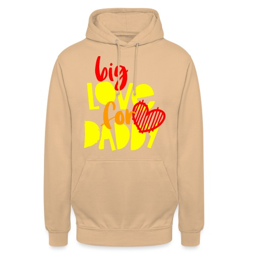 BIG LOVE FOR DADY - Sweat-shirt à capuche unisexe