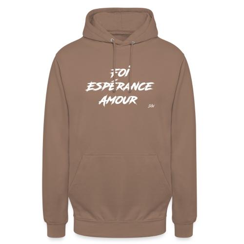 Foi Espérance Amour - Sweat-shirt à capuche unisexe