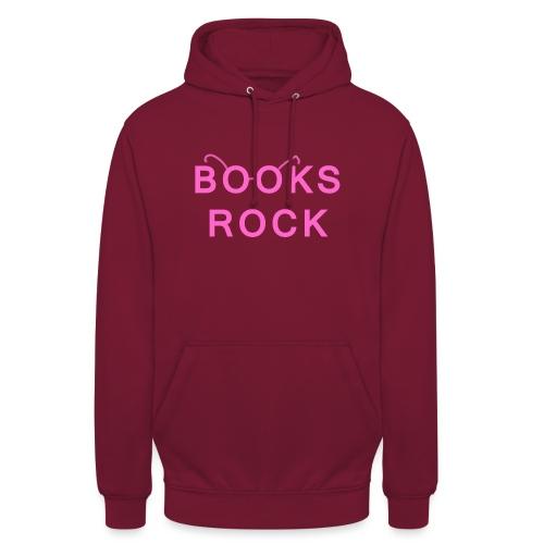 Books Rock Pink - Unisex Hoodie