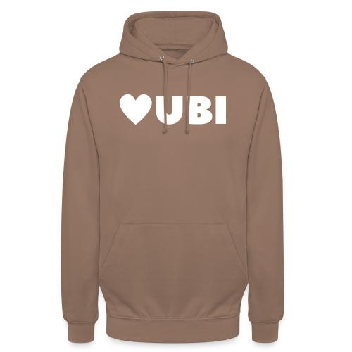 love ubi white trans - Hoodie unisex