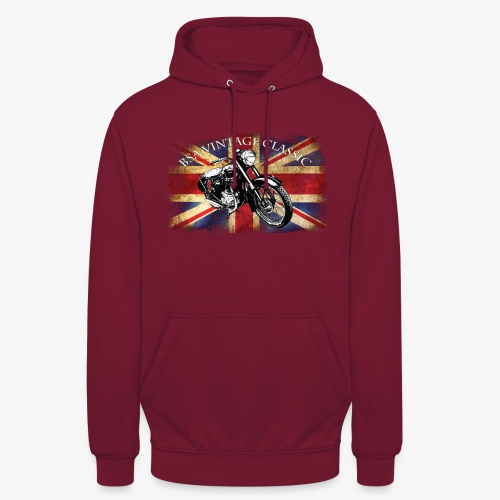 Vintage famous Brittish BSA motorcycle icon - Unisex Hoodie