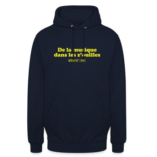 Collection De la musique dans les z'ouilles - Sweat-shirt à capuche unisexe