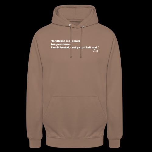 vitesse (blanc) - Sweat-shirt à capuche unisexe