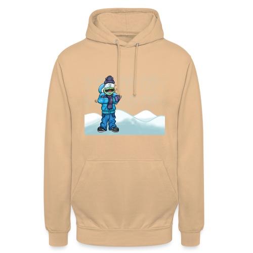 Freezing Turtle Snowboarder/Frierender Snowboarder - Unisex Hoodie