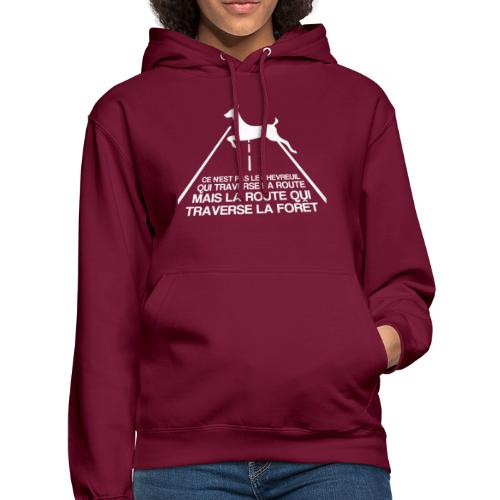 Chevreuil blanc - Sweat-shirt à capuche unisexe