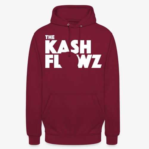 The Kash Flowz Official Logo White - Sweat-shirt à capuche unisexe