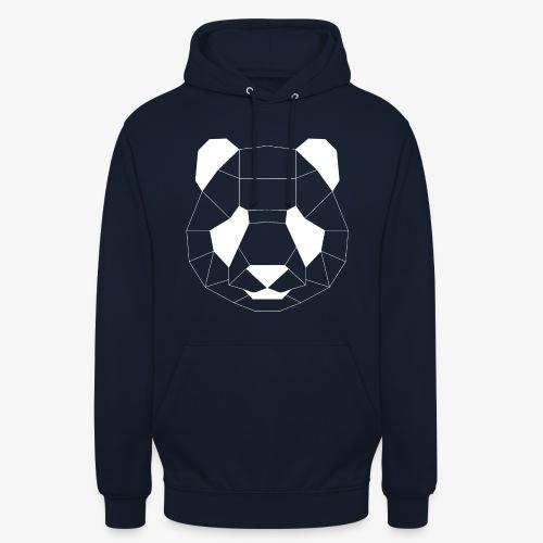 Panda Geometrisch weiss - Unisex Hoodie